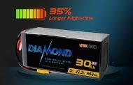 Increase Flight Time by 35%! Foxtech High-energy DIAMOND Semi-solid State Lipo battery released!