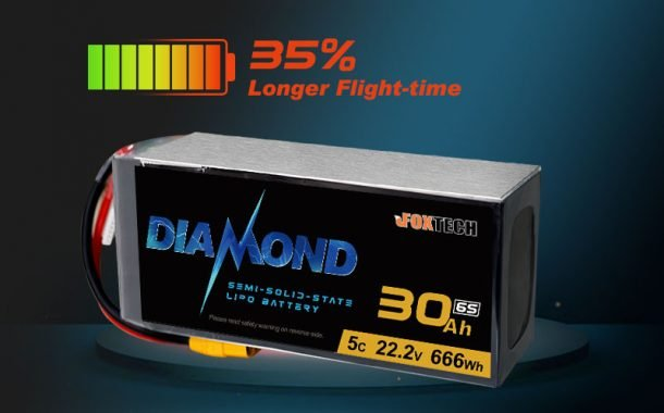 Increase Flight Time by 35%! Foxtech High-energy DIAMOND Solid-state Li-ion battery released!
