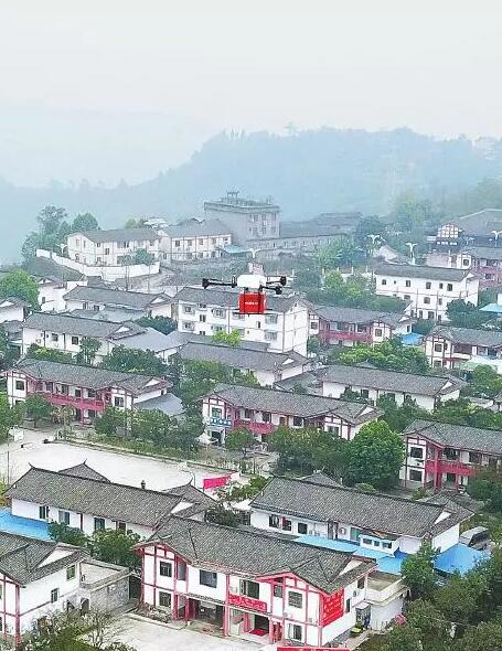 Jingdong UAV normalized distribution: uncle received flying to express