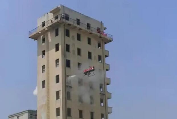Fire Fighting Drones Putting out Fire at over 100m High Buildings